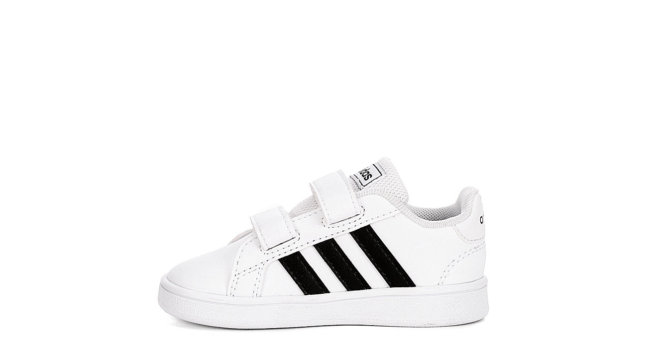 ADIDAS Boys Grand Court Infant Sneakers - WHITE