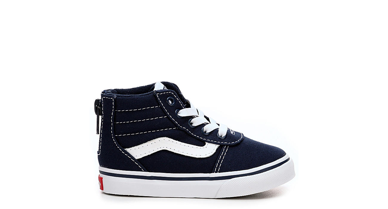 Navy Vans Boys Toddler Ward High Top Zip Sneaker Athletic Off Sneakers