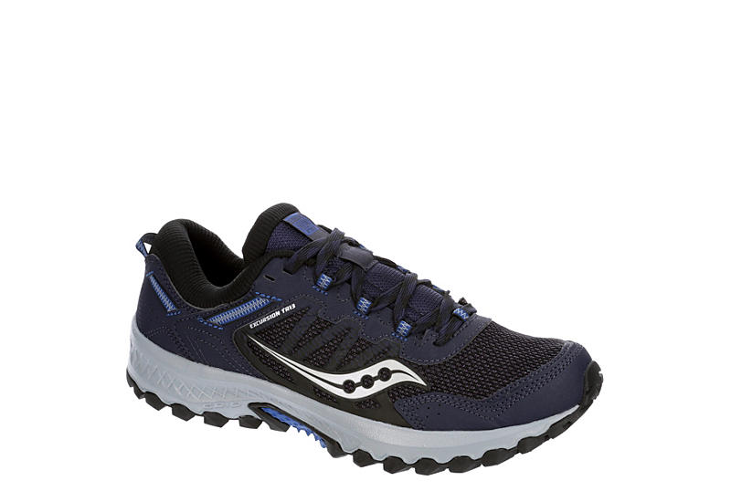 NAVY SAUCONY Mens Excursion Running Shoe