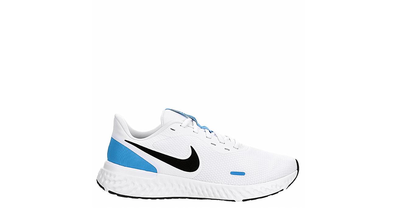 NIKE Mens Revolution 5 Running Shoe - WHITE
