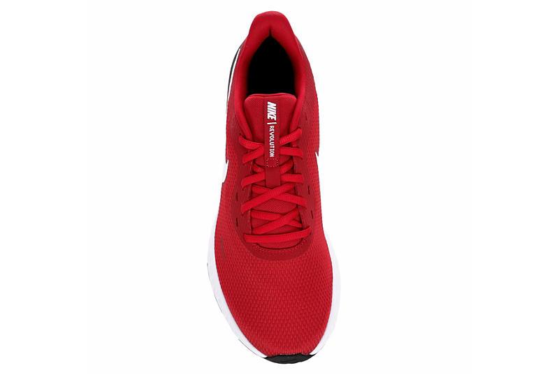 NIKE Mens Revolution 5 Running Shoe - RED