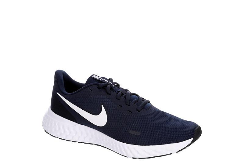 NAVY NIKE Mens Revolution 5 Running Shoe