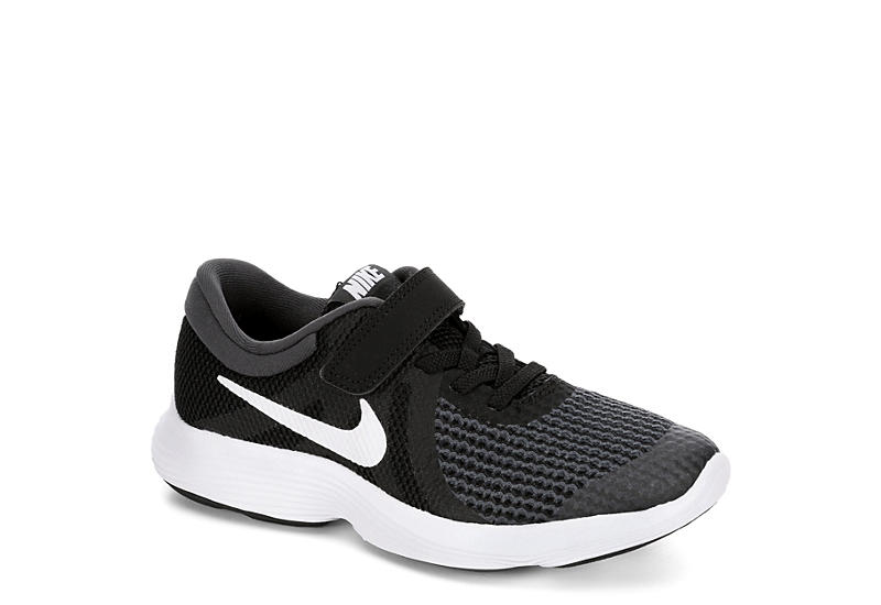 ec50005d7744 Black Nike Boys Revolution 4 Preschool Running Shoe