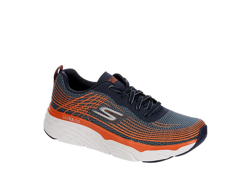 NAVY SKECHERS Mens Max Cushion Running Shoe
