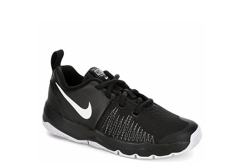 04a2edc9add31 BLACK NIKE Boys Team Hustle Quick Basketball Shoe