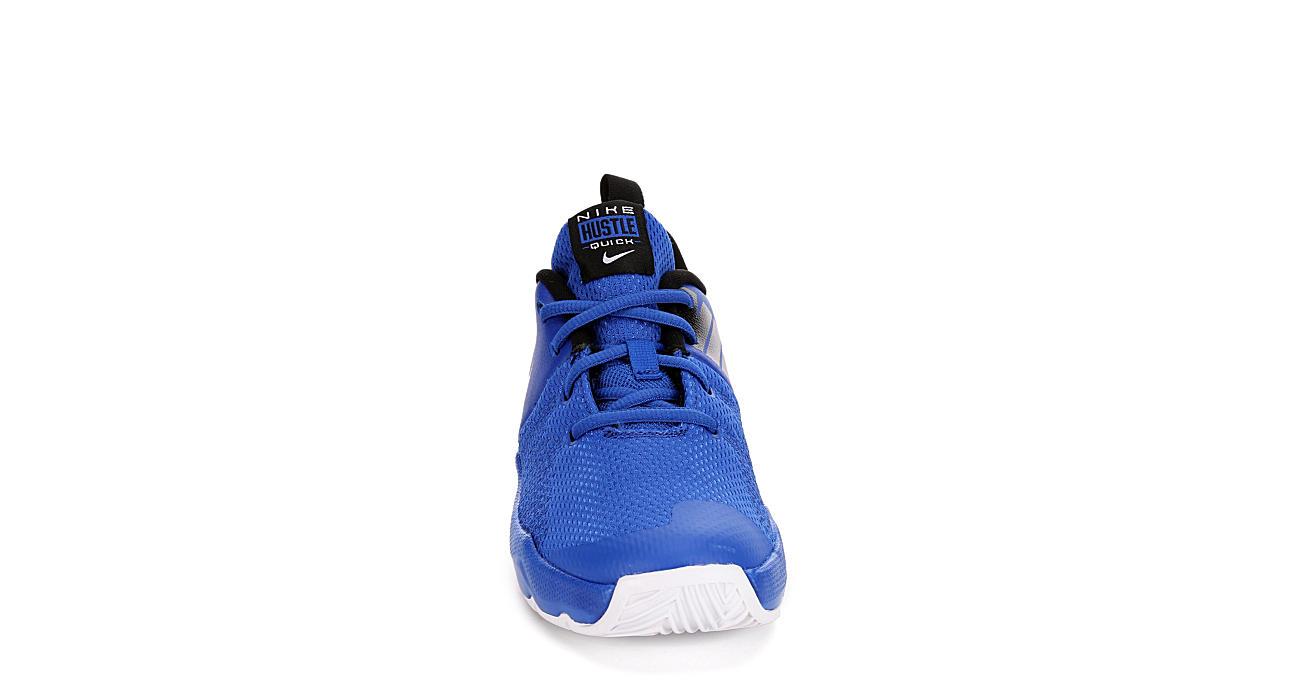 NIKE Boys Team Hustle Quick Basketball Shoe - BLUE