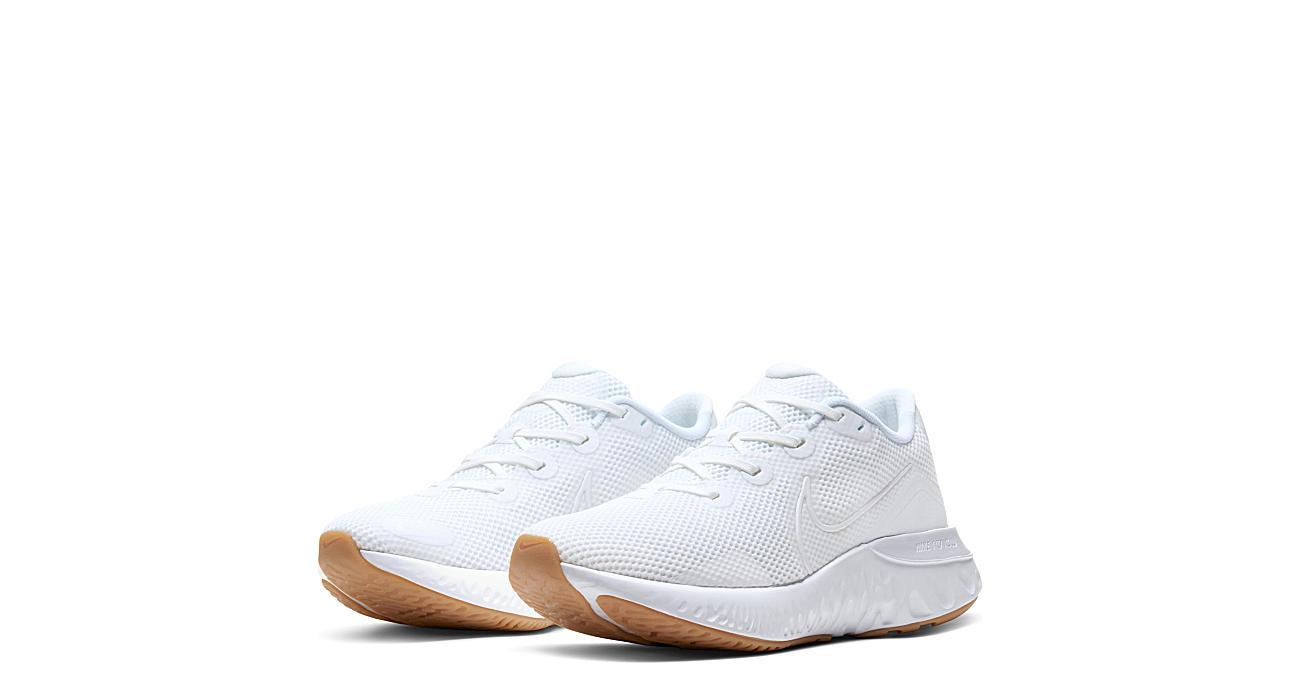 NIKE Mens Renew Run Sneaker - WHITE