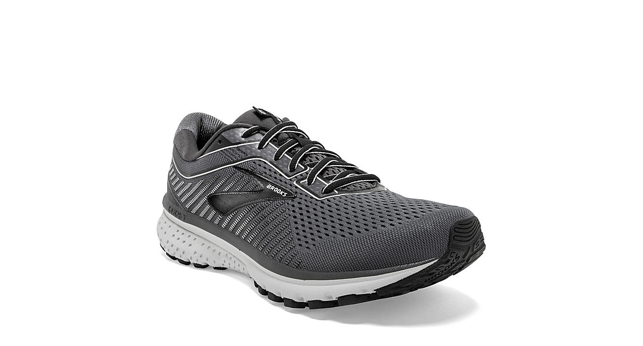 Black Brooks Mens Ghost 12 Running Shoe Athletic Off Broadway Shoes