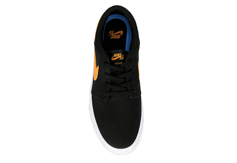 NIKE Mens Sb Portmore Solarsoft Sneaker - BLACK