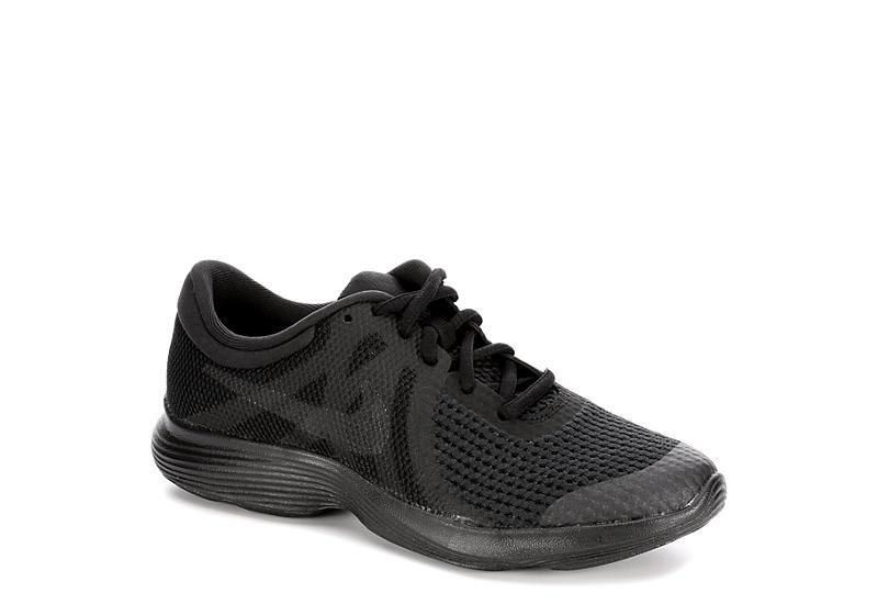 4e7a1fe02b5c9 Nike Boys Revolution 4 Grade School Running Shoe - Black