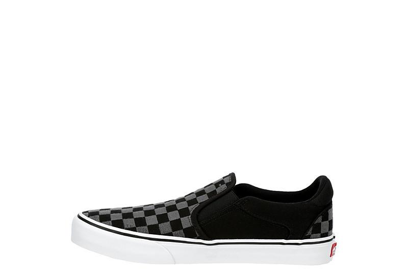 VANS Mens Asher Deluxe Slip On Sneaker - BLACK