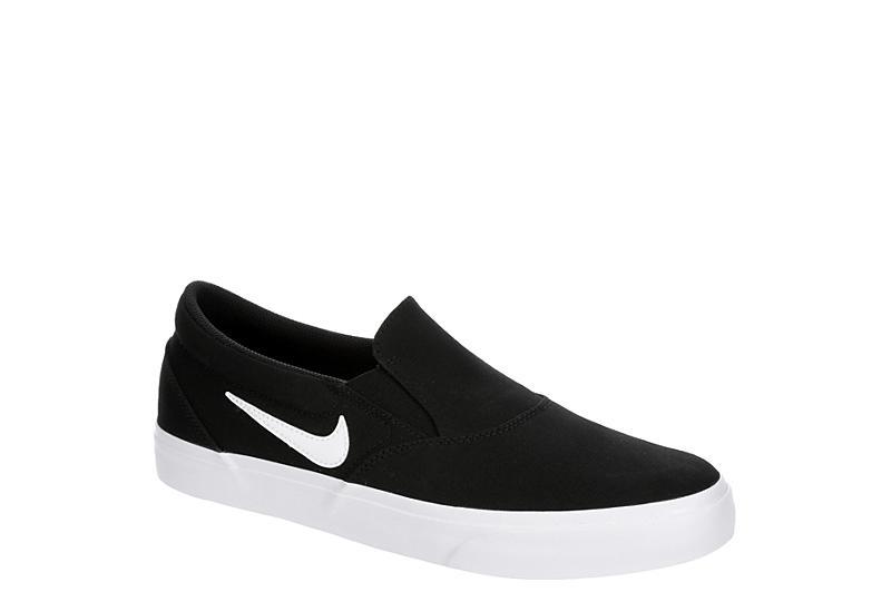 BLACK NIKE Mens Sb Charge Slip On Sneaker