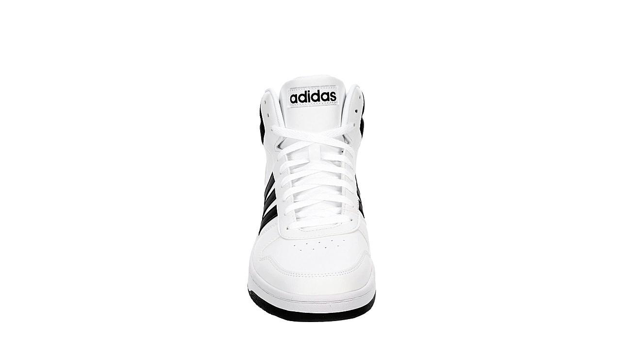 ADIDAS Mens Hoops 2.0 Mid  Sneaker - WHITE