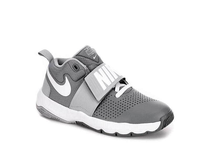 2dcf90c86591 Grey Nike Boys Team Hustle D8 Basketball Shoe