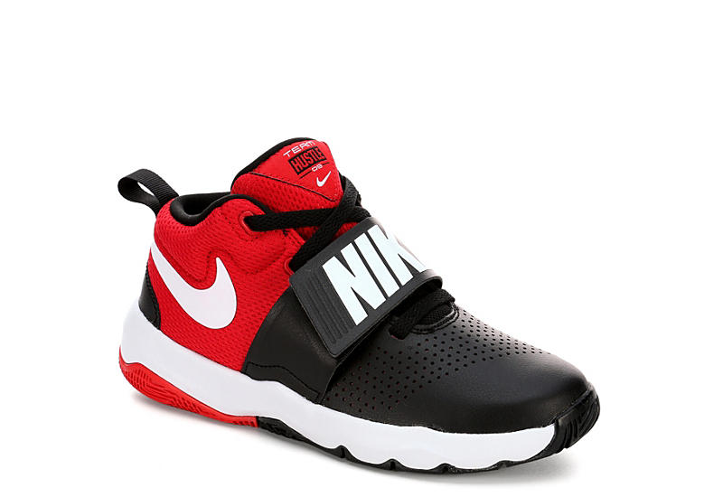 d97eeb15f172 Nike Boys Grade School Team Hustle D8 Sneaker - Black