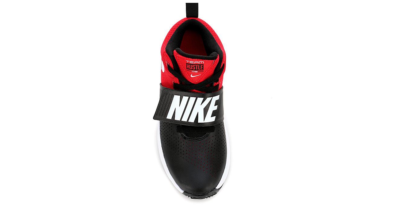 Black Nike Boys Team Hustle D8 Grade School Sneaker Athletic Off