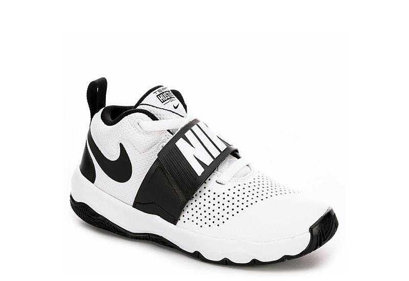 Nike Boys Team Hustle D8 Grade School Sneaker - White c9840981e