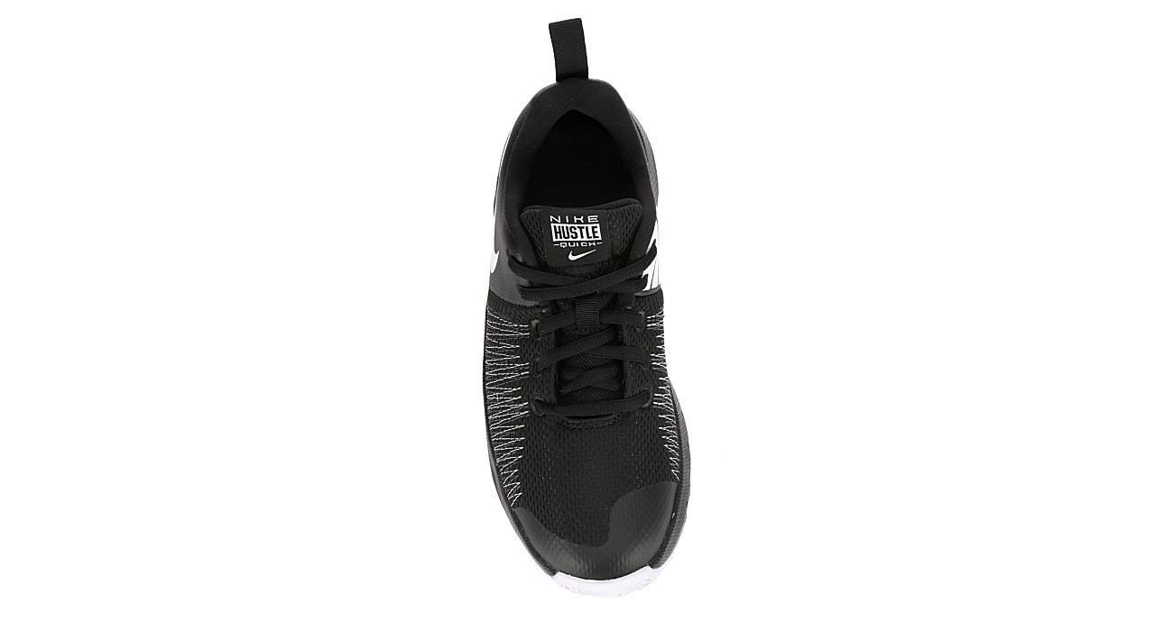 NIKE Boys Team Hustle Quick Basketball Shoe - BLACK