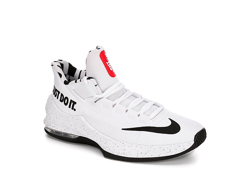 8fb8a1e11d86 White Nike Boys Infuriate 2 Jdi Gradeschool Basketball Shoe ...