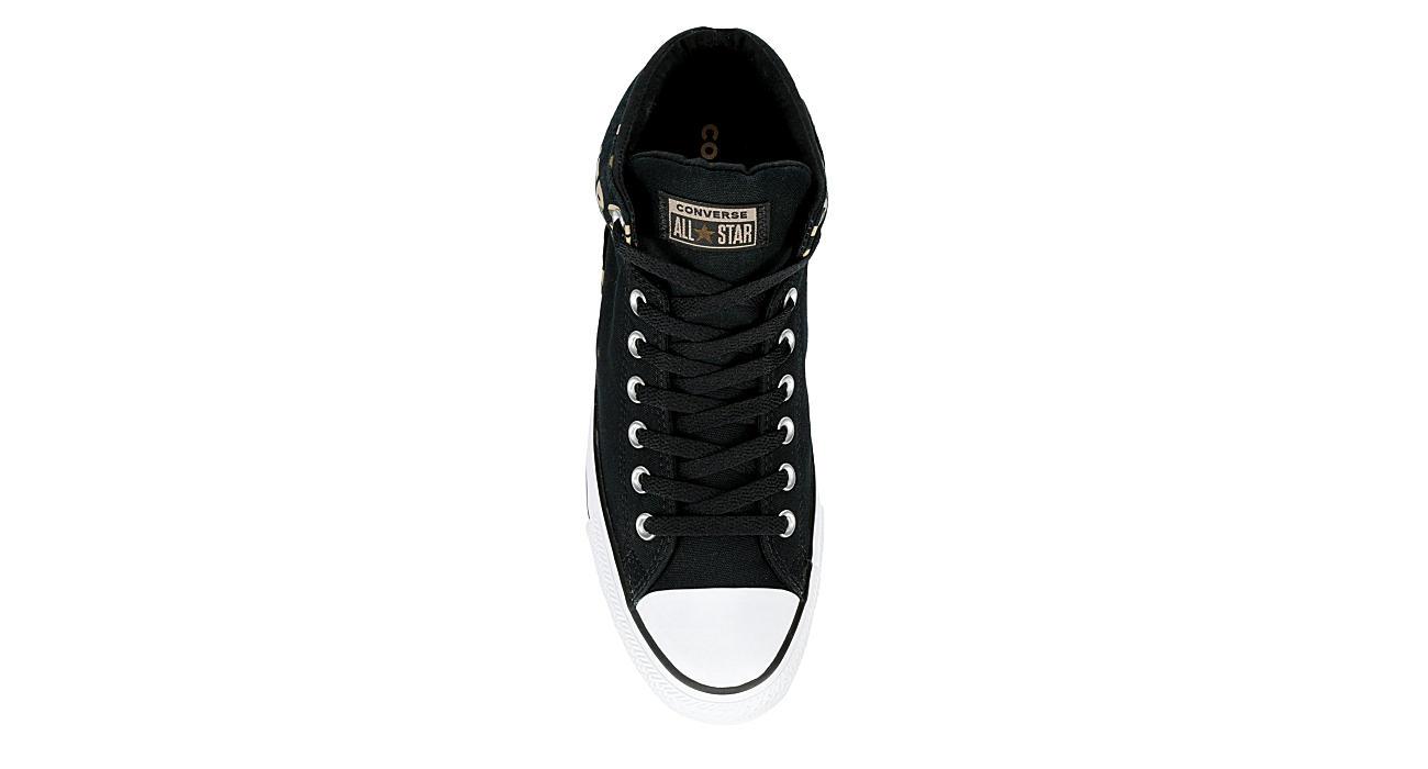 CONVERSE Mens Chuck Taylor All Star High Street High Top Sneaker - BLACK