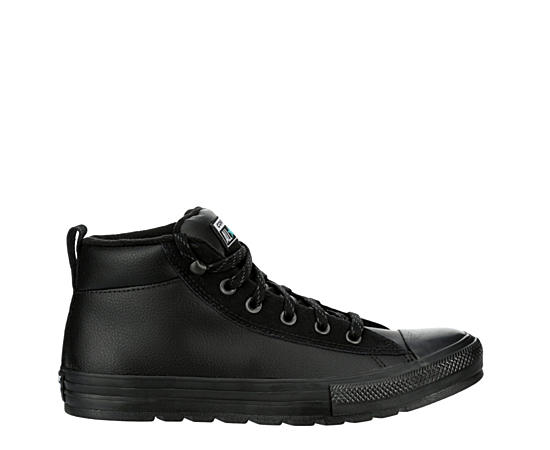 Mens Chuck Taylor All Star Street Leather Mid