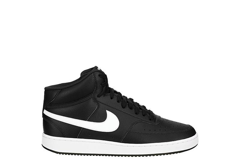 NIKE Mens Court Vision Mid Sneaker - BLACK