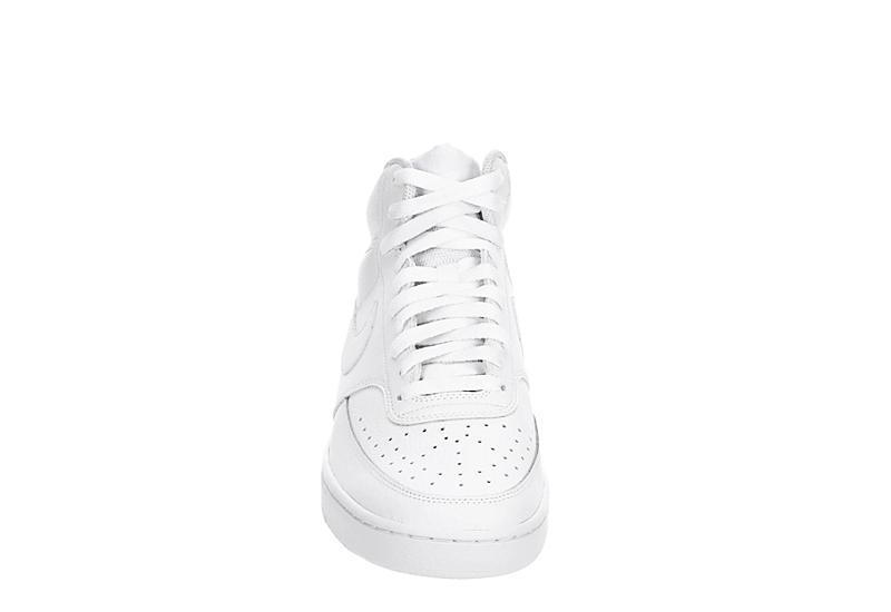 NIKE Mens Court Vision Mid Sneaker - WHITE