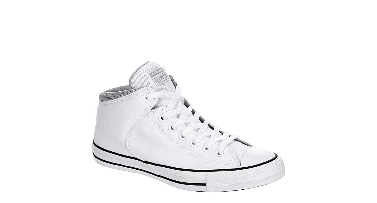 CONVERSE Mens Chuck Taylor All Star High Street High Top Sneaker - WHITE