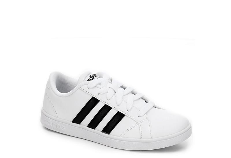 WHITE ADIDAS Boys Baseline Grade School Sneaker