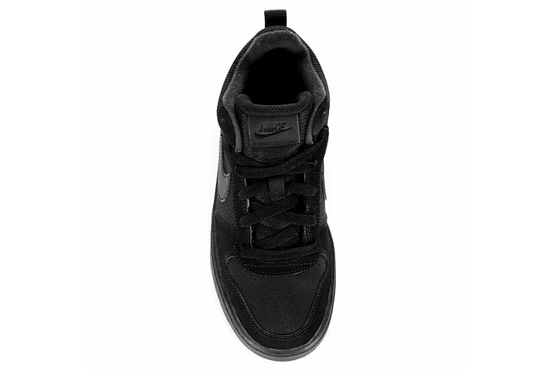 NIKE Boys Grade School Court Borough Sneaker - BLACK