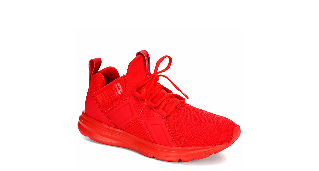 PUMA Boys Enzo Mid Grade School Sneaker - RED