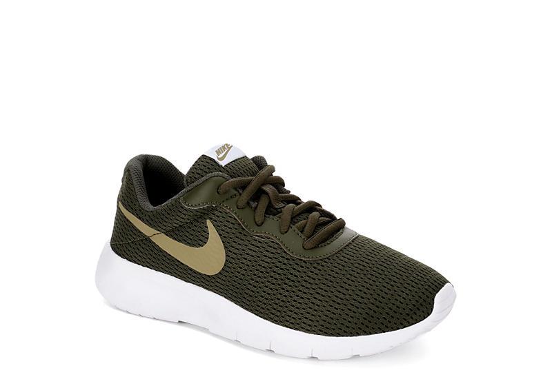 7db3a337451b87 Olive Nike Boys Tanjun Grade School Sneaker