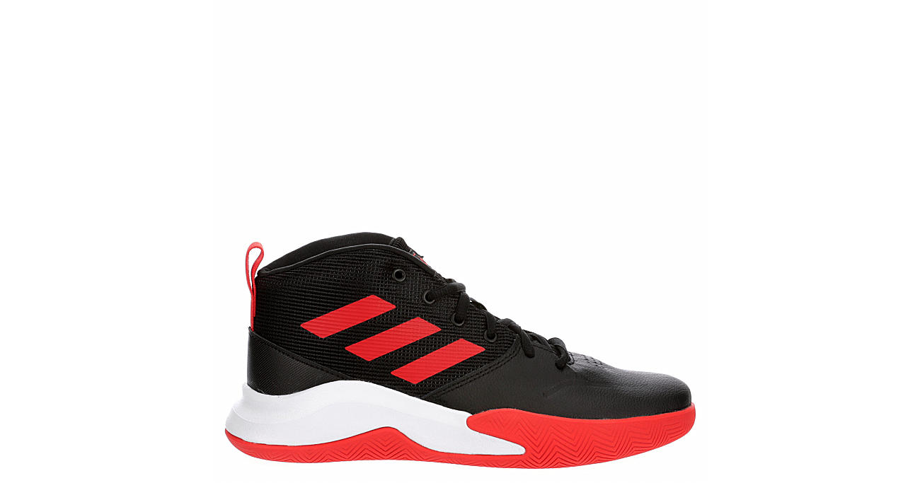 ADIDAS Boys Own The Game High Top Sneaker - BLACK