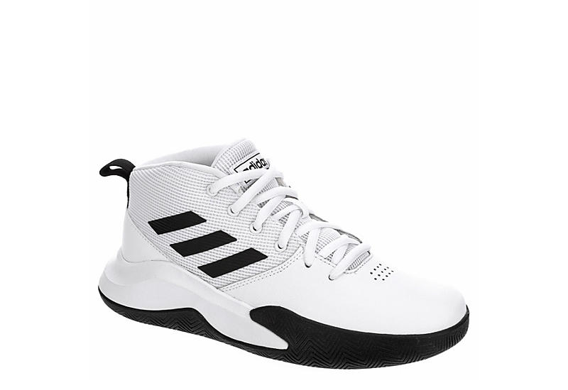 WHITE ADIDAS Boys Own The Game High Top Sneaker