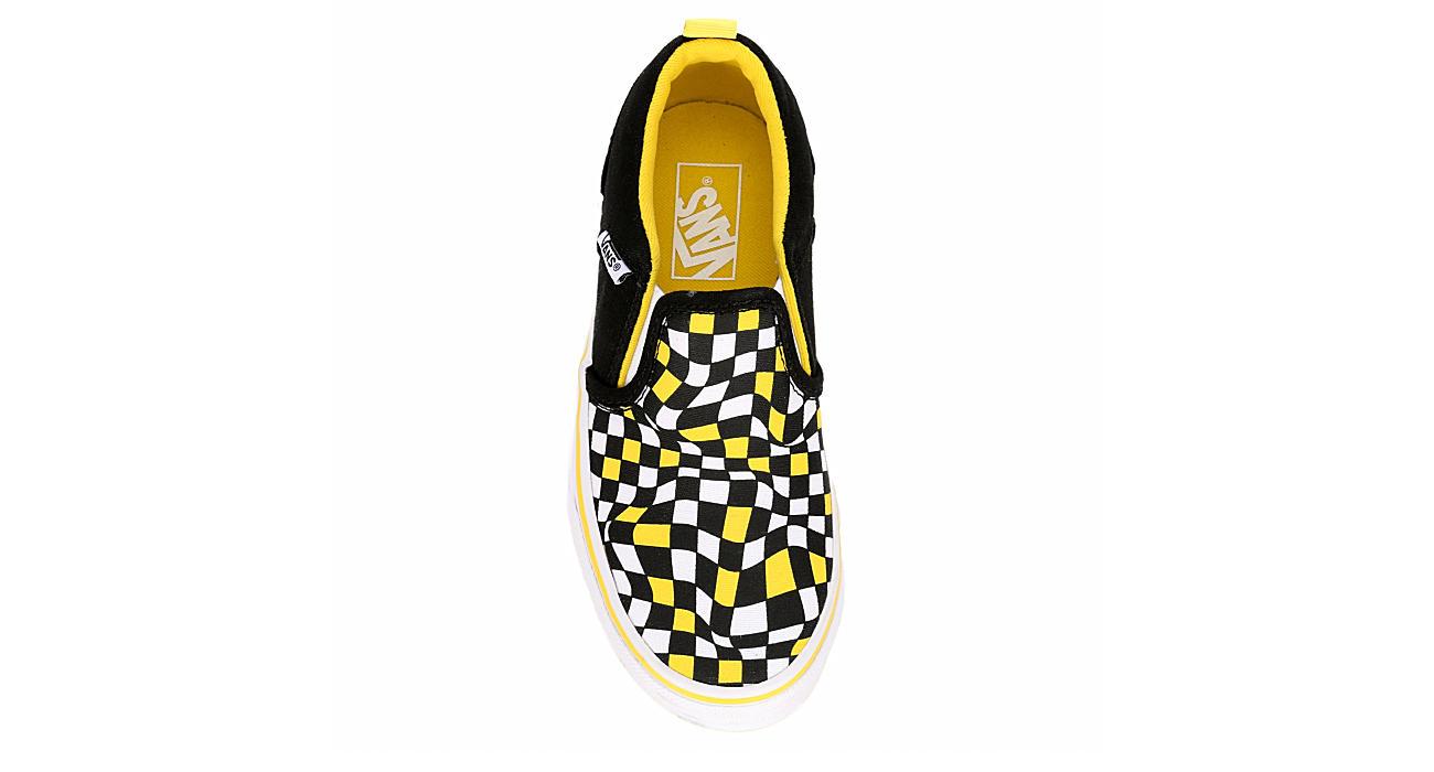VANS Boys Asher Slip Checkerboard - BLACK