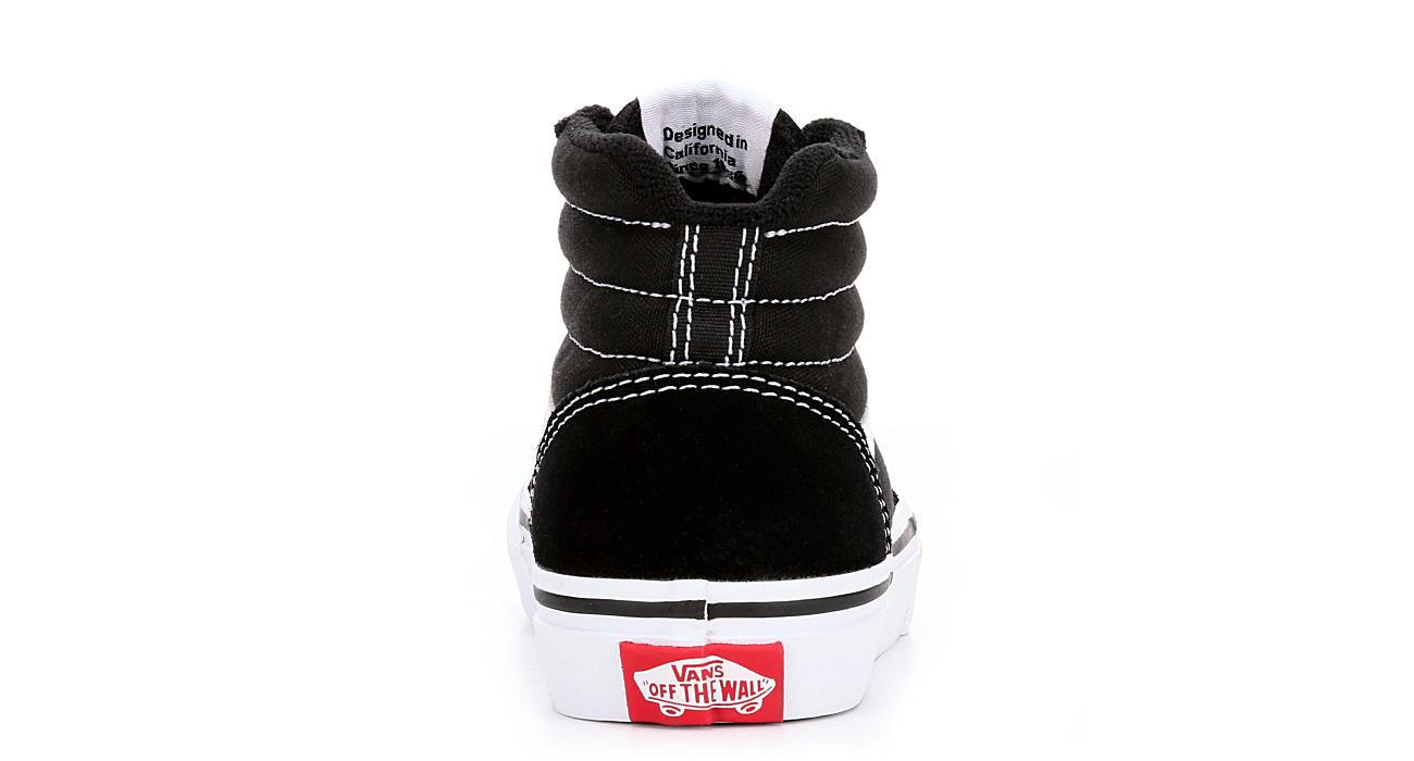 VANS Boys Ward High Top Sneaker - BLACK