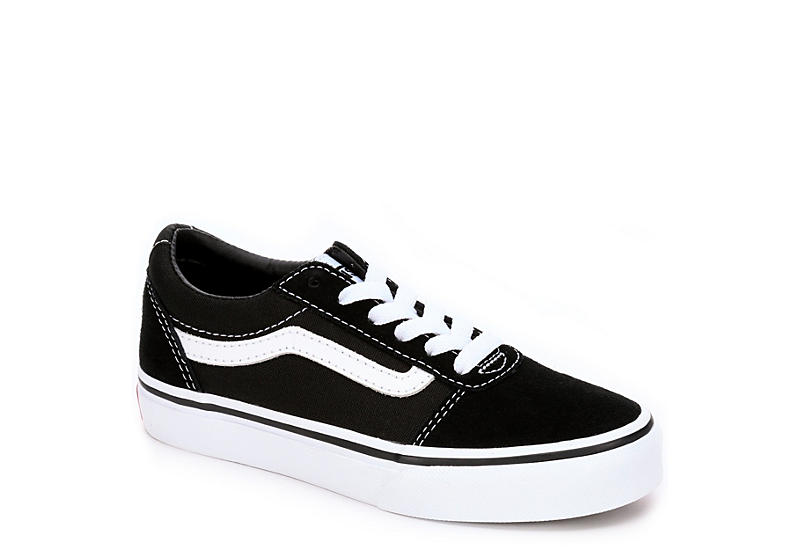 f76d6ab2d93f6a Black Boy's Vans Ward Low Top Sneakers | Off Broadway Shoes