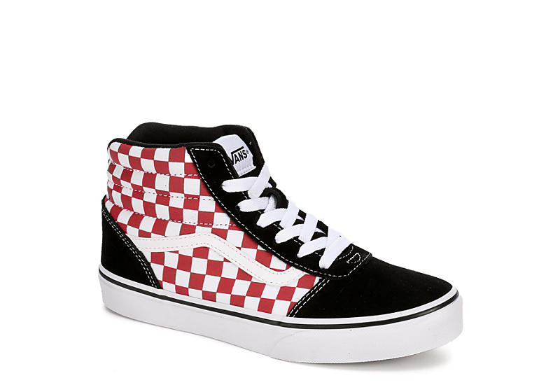 1147d44a32f25e Vans Boys Ward High Top Sneaker - Black