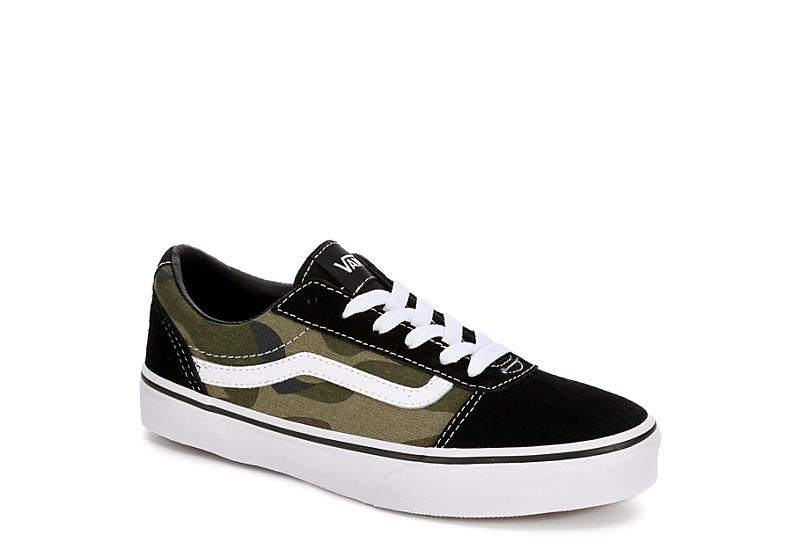 192873523f411 Camo Vans Boys Ward Low Sneaker | Athletic | Off Broadway Shoes