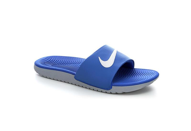 45f07936e4298 Nike Boys Kawa Slide Sandal - Blue
