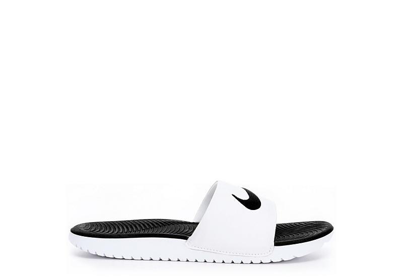 NIKE Boys Kawa Slide Sandal - WHITE