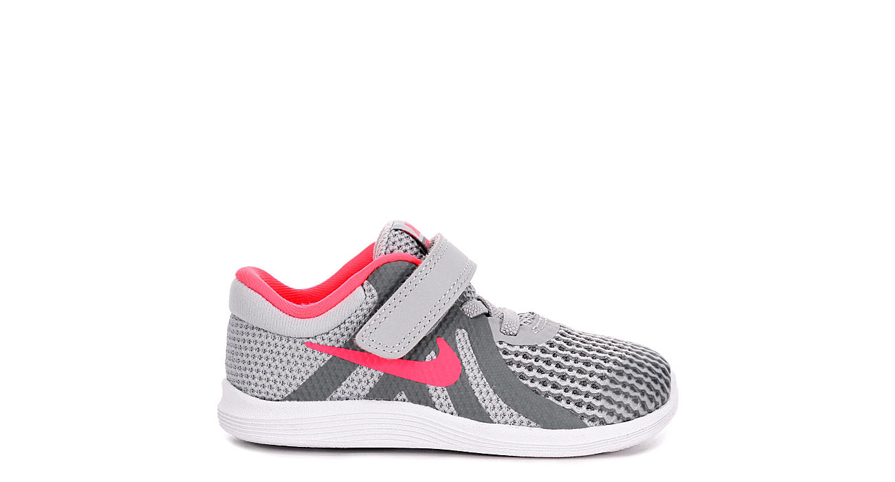 51c4757d826b5 Nike Girls Infant Revolution 4 Running Shoe - Grey