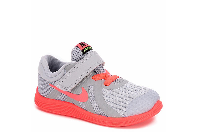 0d2f4221abd53 Nike Girls Revolution 4 Toddler Running Shoe - Grey