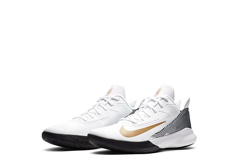 WHITE NIKE Mens Precision Iv Basketball Shoe