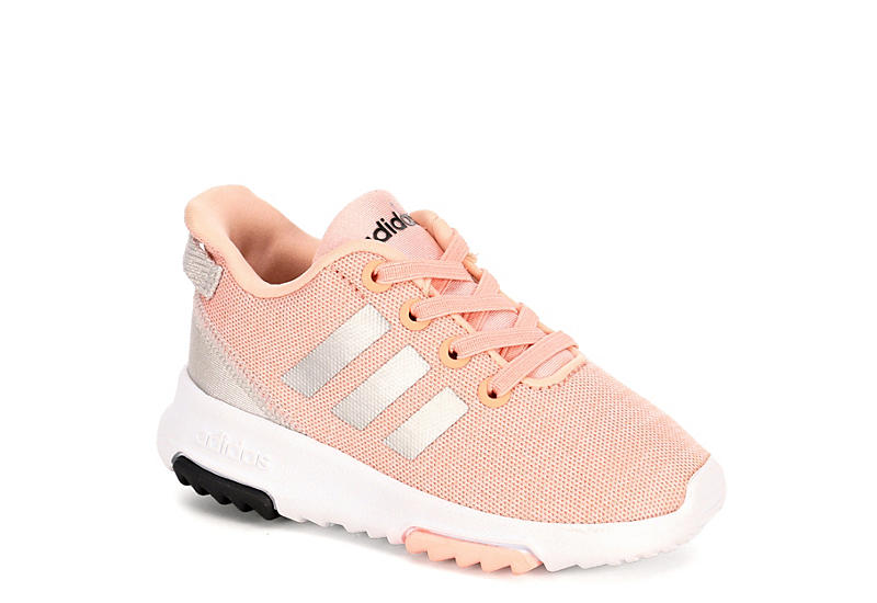 new product dfcd3 f9e78 Adidas Girls Racer Tr Toddler Sneaker - Pale Pink