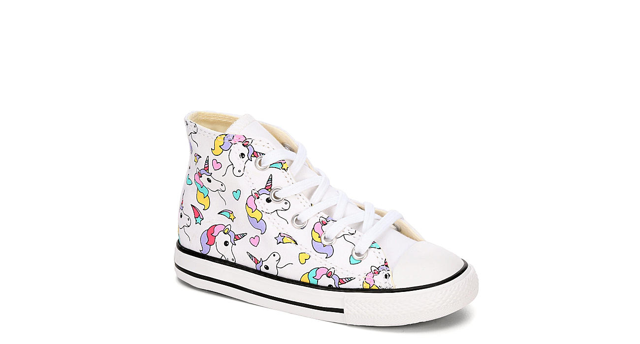 CONVERSE Girls Infant Chuck Taylor All Star High Top Sneaker - WHITE