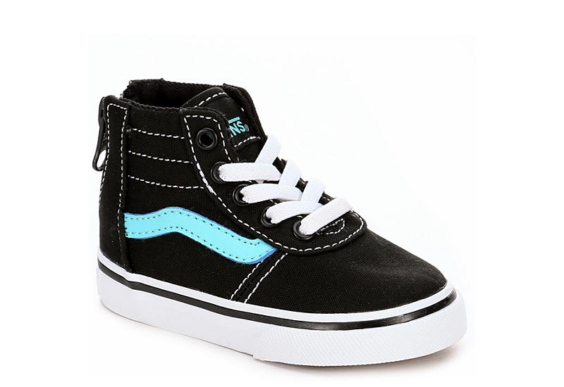 cc8b46d87fc Vans Girls Toddler Maddie High Top Zip Sneaker - Black