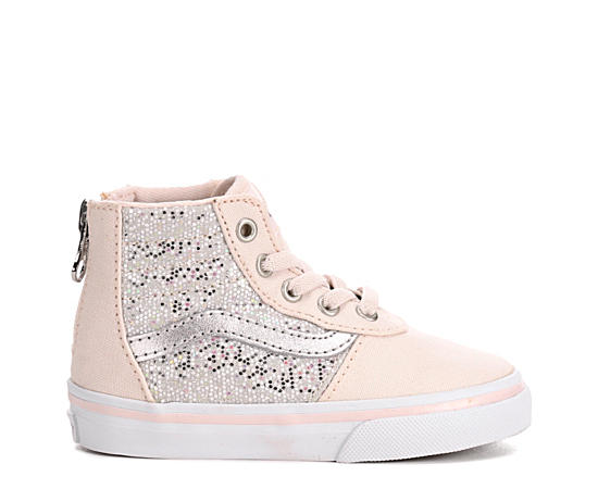 Girls Maddie Hi Zip Glitter Toddler Sneaker