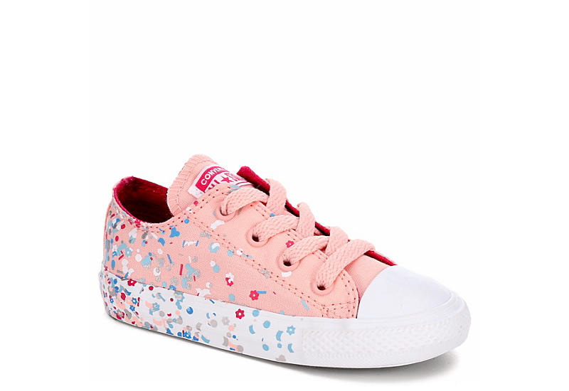 eb992a01af52a9 Pink Converse Girls Chuck Taylor All Star Lo Infant Sneaker ...