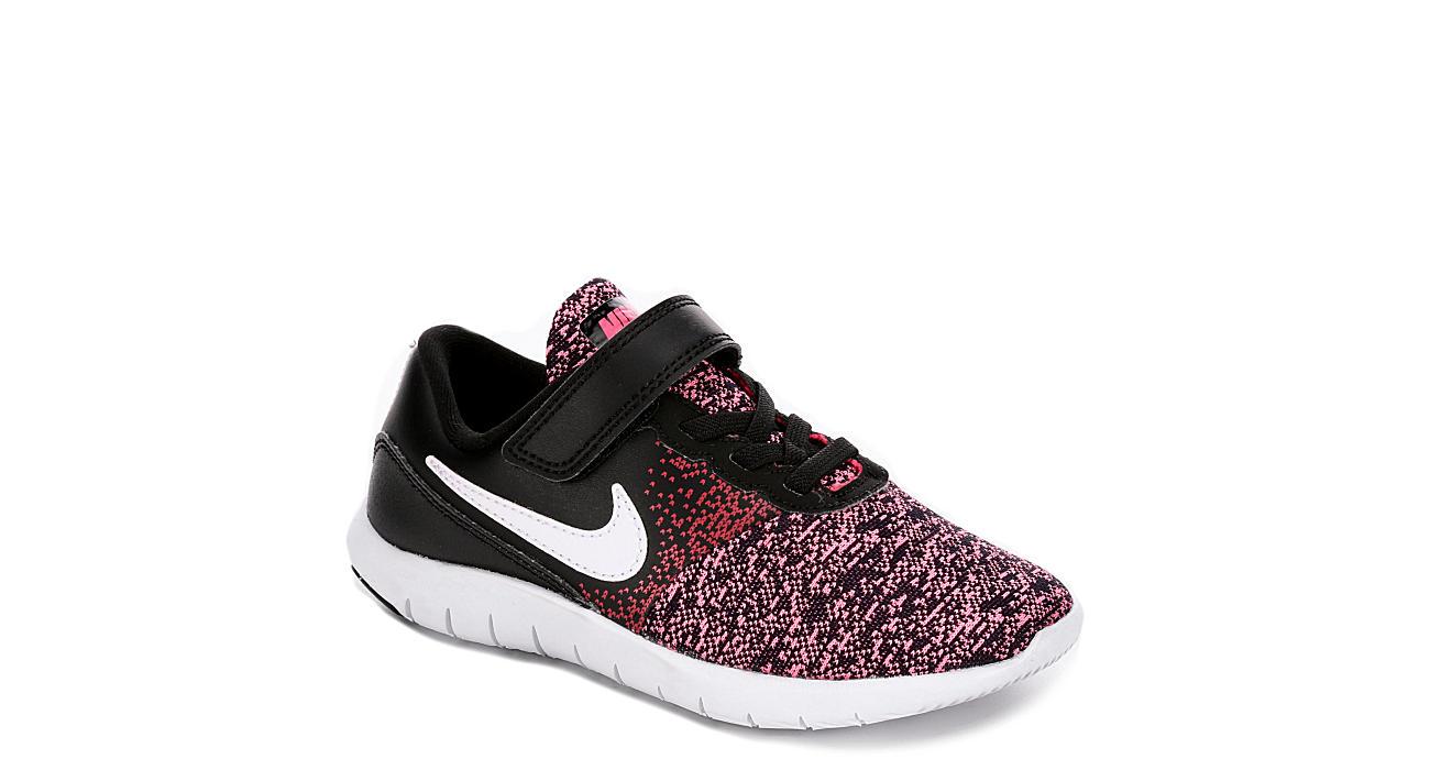 68e4da9842847 Nike Girls Flex Contact Preschool Sneaker - Black